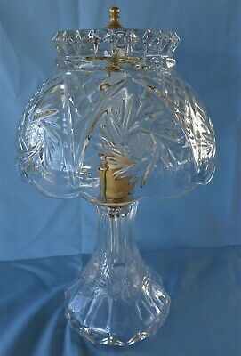 Stunning Vintage Lead Crystal Lamp One of a Pair # 2