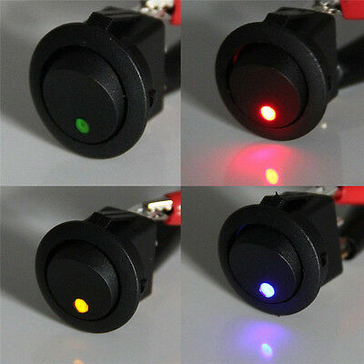 4x Waterproof ON/OFF Car 12V Round Rocker Dot Boat LED Lights Toggle Switches
