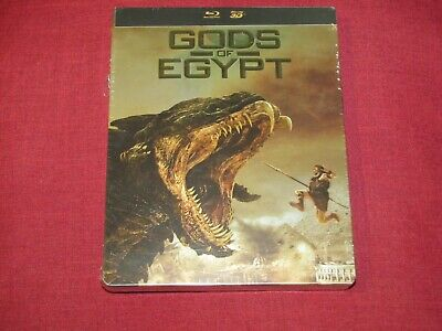 GODS OF EGYPT Edition Steelbook Blu-ray 3D + Blu-ray NEUF (Version Française)