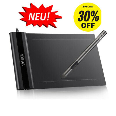 """VEIKK S640 6x4"""" Ultra-thin Graphics Drawing Tablet With Rechargeable Digital Pen"""