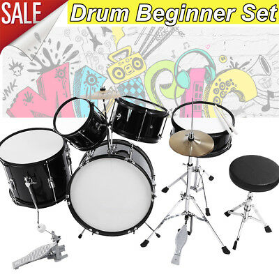 787c088ee 5Pc Rock Drum Kit Childrens Cymbal Music Percussion Playset Stool Toy Gift  Stool
