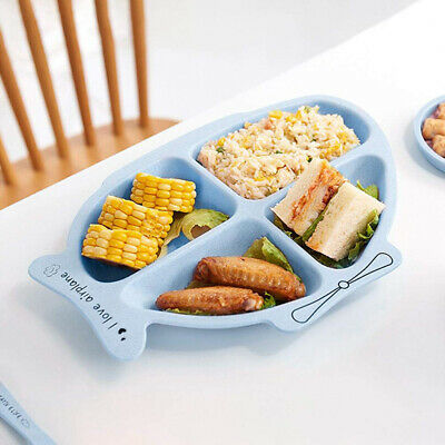 Fish Shape Baby Dishes Tableware Food Bowl Spoon Fork Feeding Kids Stuff ONE
