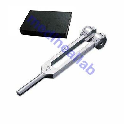 C 256 Hz Tuning Fork Weighted Medical tuning fork Free Activator + Velvet Pouch