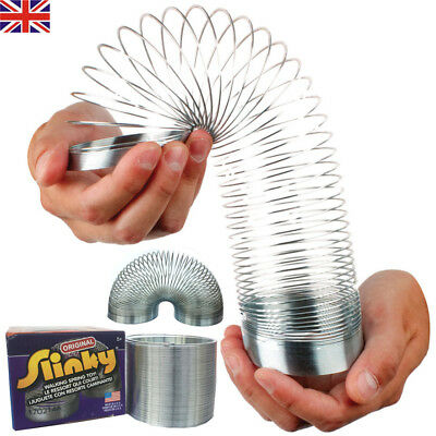 Kids Fun Gifts Magic Springy Slinky Metal Spring Childrens Kid Retro Game Toy