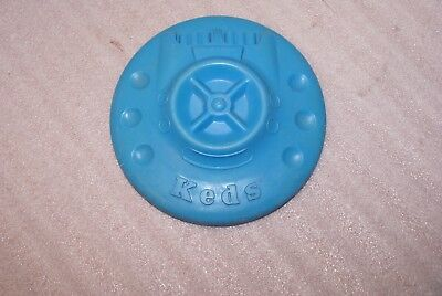 1960's Keds Sneakers Flying Saucer UFO Blue Frisbee Vintage Advertising Toy