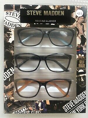 066fc608d11e STEVE MADDEN 3 Pair Reading Glasses Readers +2.50 New Authentic ...