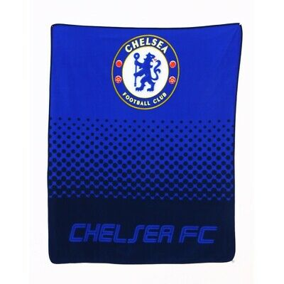 "CHELSEA FC OFFICIALLY LICENSED FLEECE BLANKET 60"" x 50"" FREE SHIPPING USA"