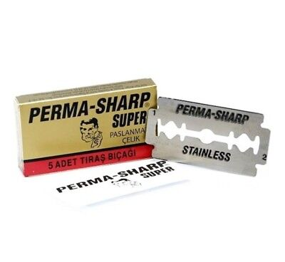 4 Pack x Genuine Gilette Perma Sharp Double Edge Shaving Razor  20 Blades