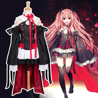 f5a393b7c Owari no Seraph of the End Cosplay Costume Vampires Krul Tepes Dress  Wig&Boots