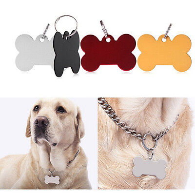 Bone Shape Engraved Pet Tags Dog/Cat Name Identity ID Disc Animal Tags OQ