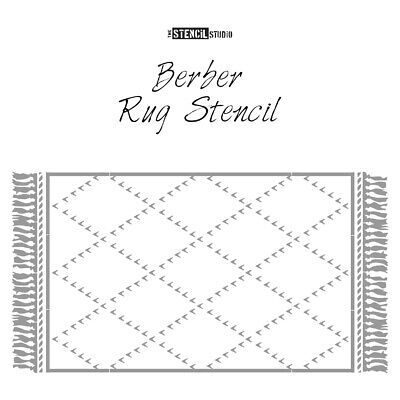 Berber Patio Rug Stencil - Get cosy outside - Give patios a makeover! 10921
