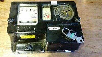 Classic electric coin meter £1 coins 60 Amp with lock and key