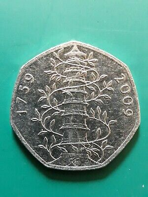 2009 KEW GARDENS 50p. Fifty pence. GENUINE. Real. Circulated.