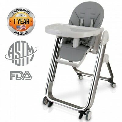 SereneLife SLHC62 Baby Feeding High Chair Seat w/ Height Adjust, Easy folding