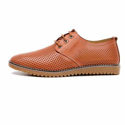 67b499ba633a NEW MENS GENUINE Leather Dress Casual Lace-up Comfort Oxford Shoe ...