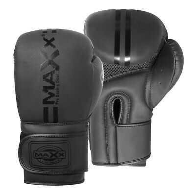 Maxx CONVEX SKIN Leather Boxing Gloves MMA Training Fight Sparring Punching ufc
