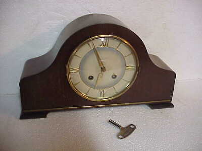 Vintage Junghans 8 Day Tambour Deco Style Clock Running B