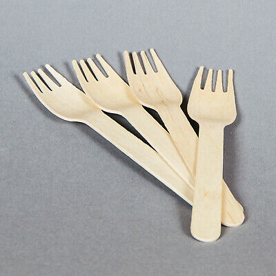 Wooden Forks (100) - Recyclable, Biodegradable, Compostable