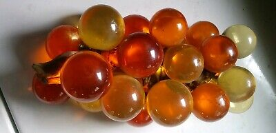 Vintage Mid Century Modern Acrylic amber Large Lucite Grape Cluster  driftWood