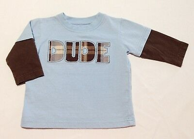 Gymboree Size 6 12 Months HALF PIPE HERO Baby Boys DUDE Shirt GUC Winter Spring