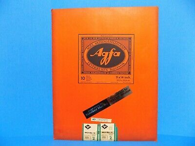 Vintage Agfa Brovira 111 Glossy White Photographic Paper - 10 Sheets 11 x 14