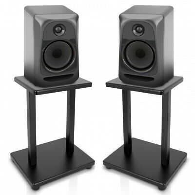 PYLE PSTND18 Home Studios Set of 2 Speaker Stands Bookshelf Monitor Black