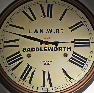 London & North Western Railway Victorian Style Clock, Saddleworth Station