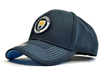 Official  Manchester City FC Navy Baseball  Cap Fabric Detail     FREE (UK) P+P