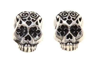 ed8a1fc48 NEW King Baby Jewelry Sterling Silver Day Of The Dead Skull Stud Earrings