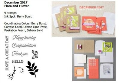 STAMPIN UP FLORA & FLUTTER-hello-birthday-thank you-paper