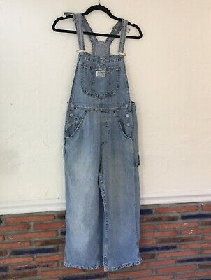 cff1bb68 Vintage Levi Strauss Two Horse Brand Overalls Jean Denim Bib Size Small