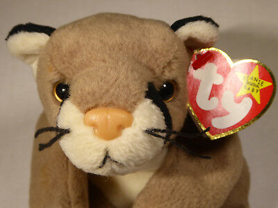 Toys & Hobbies Ty Ty Beanie Babies Canyon Mountain Lion Cougar Cat 1998 Mint Condition Ships Free!