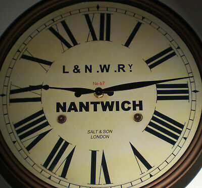 L&NWR London & North Western Railway, Station Wall Clock, Nantwich Station