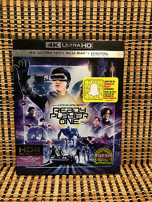 Ready Player One 4K (1-Disc Blu-ray, 2018)+Slipcover.Steven Spielberg.Ernest Cli