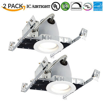 Sunco 2Pack 4-Inch Nc Can W/ Retrofit Recessed Led 11W 660 Lumen 4000K Dimmable