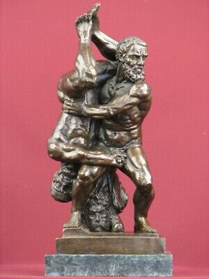 Bronze Sculpture Nude Male Mythology Limited Edition  Statue On Marble Base