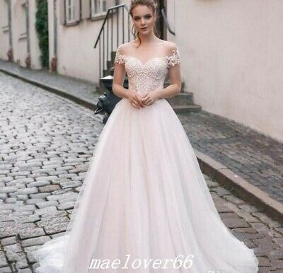 5f4368064f64 Blush Pink Off Shoulder Fairy Boho A Line Beach Wedding Dresses Princess  Gowns