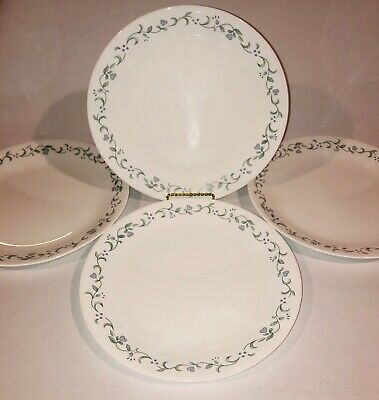 """4 Corelle Country Cottage 10 1/4"""" Dinner Plates"""