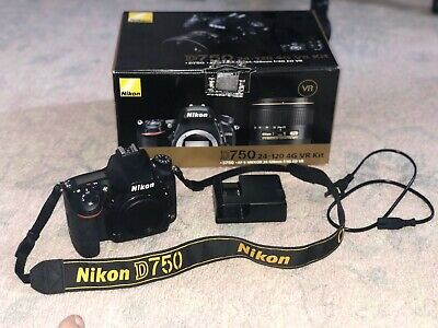 Nikon D750 24.3MP DSLR Camera - Black (Body Only) - Excellent Condition