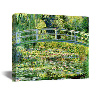 Water-Lily Pond Claude Monet HD Canvas Print Oil Painting Art Wall Decor 22x22""