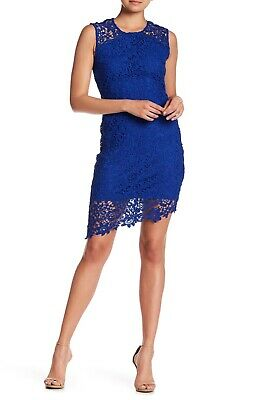 bebe Lace Sleeveless Dress COBALT Size 12 $129.00 - NWT
