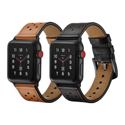 Premium Leather Watch Band Strap For Apple Watch Series 6 5 4 3 44mm 40mm 42mm