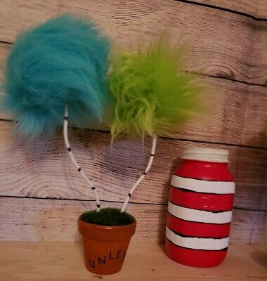 (1) DOUBLE Dr Sues Truffula Tree Party decor gift prop Birthday Lorax Christmas