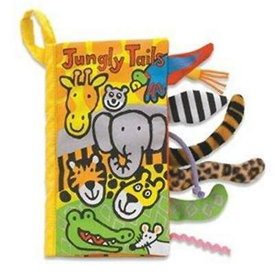 NEW Jellycat Jungle Tails Fabric Book - Sensory and Sound Baby Book