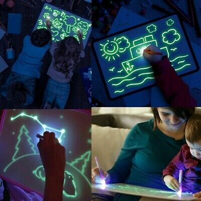 Kids Gift Draw With Light Fun And Developing Toy UV Luminous Pen Drawing Board