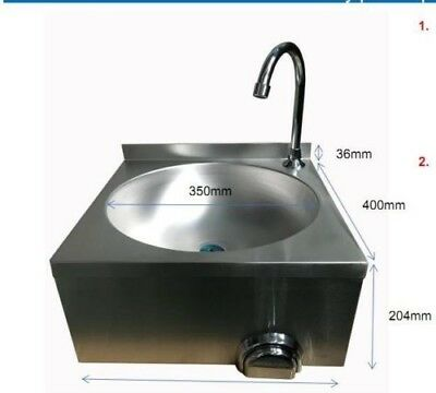 Hands Free Sink - Knee Operated Stainless Steel