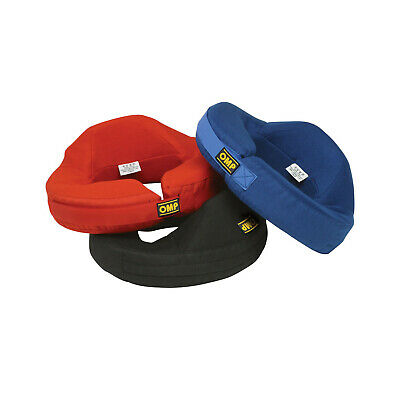 Genuine OMP NOMEX neck protector with rear neck support red