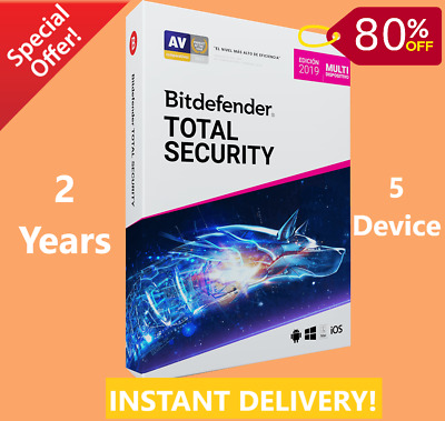 Bitdefender Total Security 2019/2020 |5 Device 2 Years-Download-INSTANT-DELIVERY