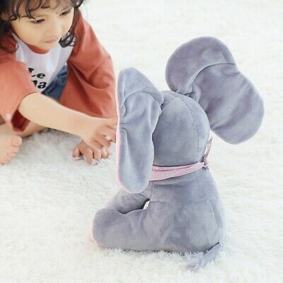 Peek-a-boo Talking Singing Elephant Music Doll Plush Toy Stuffed toy Kids UK