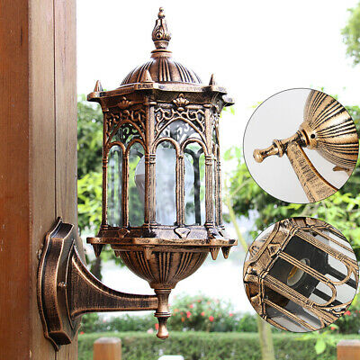 Antique Wall Mount Lantern Sconce Porch Light Lamp Garden Wall Lighting Fixture
